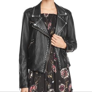 Free People studded leather jacket
